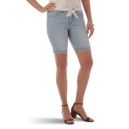 9ee0238e Lee Riders - Women's Denim Cuffed Bermuda Short - Walmart.com