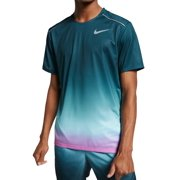 Mens Activewear Top Teal Ombre Dri Fit Short Sleeve 2XL