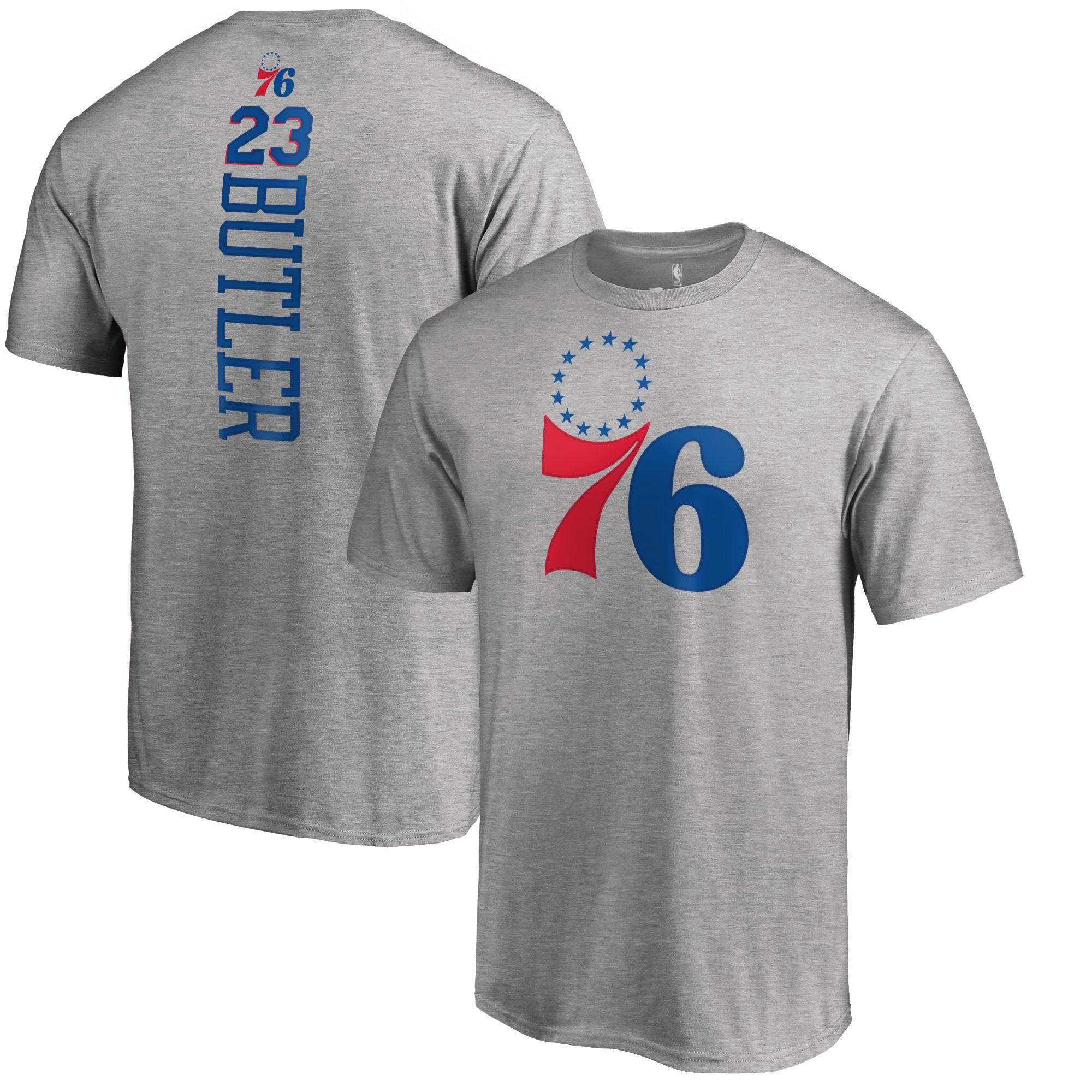 Jimmy Butler Philadelphia 76ers Fanatics Branded Backer T-Shirt - Heather Gray