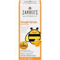 Zarbee's Naturals Children's Cough Syrup with Dark Honey, Grape, 4 fl oz