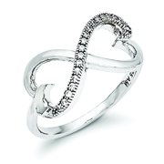 Sterling Silver & CZ Heart Ring