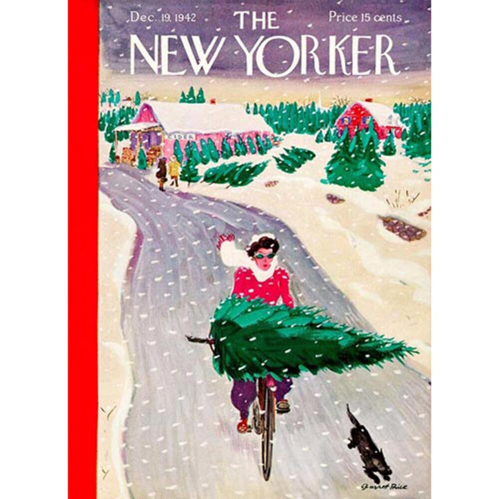 New York Puzzle Company Tree Shopping Jigsaw Puzzle