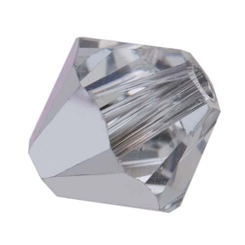 Swarovski Crystal, #5328 Bicone Beads 5mm, 20 Pieces, Crystal Comet Argent Light