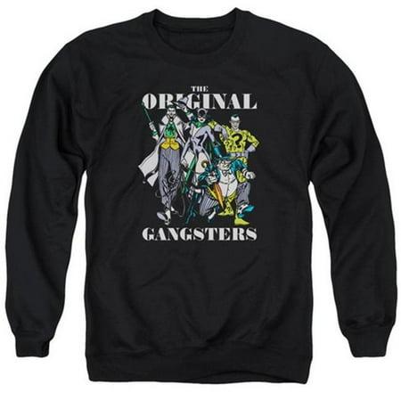 Trevco Dc-Original Gangsters - Adult Sweat Tee Crew - Black, Medium - Ganster Suit