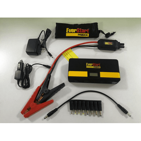 Everstart 600 Amp Lithium Ion Jump Starter Bundle W/Surge Protector, USB Ports, and Carrying Case