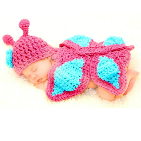 Majestic Milestones Crochet Baby Costume - Newborn - Butterfly](Halloween Costumes For Newborn Baby Girl)