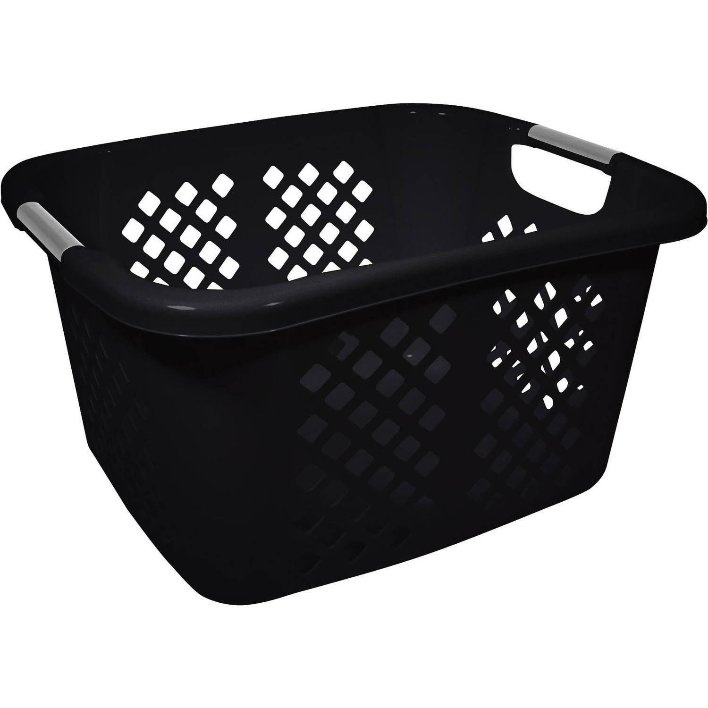 Home Logic 1.5-Bu Laundry Basket, Black