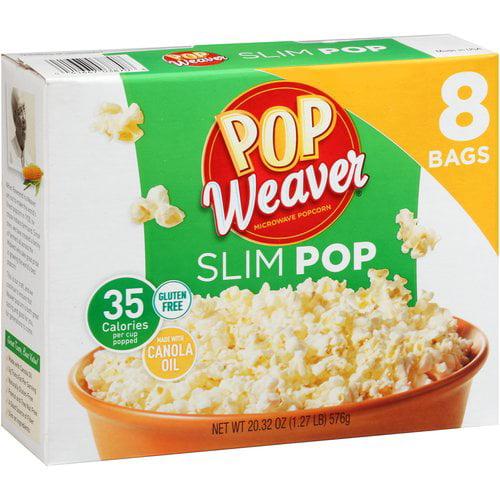 Pop Weaver Slim Pop Microwave Popcorn, 8 ct, 20.32 oz