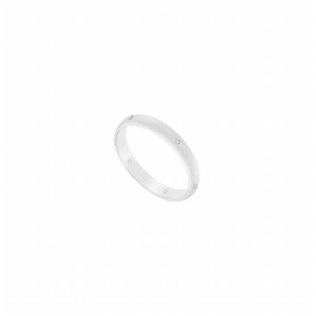 Fine Jewelry Vault UBVCHR250W14D-120RS13 2.5 mm Comfort Fit Half Round Wedding Band with Diamond 14K White Gold, 0.05 CT - Size 13