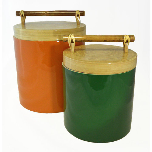 Bodhi Tree Collections 2-Piece Bamboo Canister Set