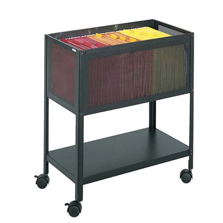 Safco Products Company Steel Mesh Open Top Tub File Cart