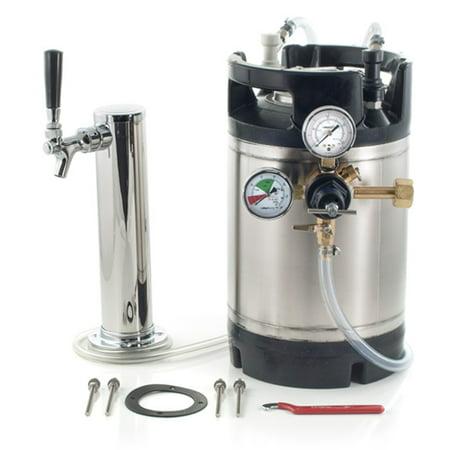 1. 75 Gallon Ball Lock Keg System w/Single Tower, New AIH Keg