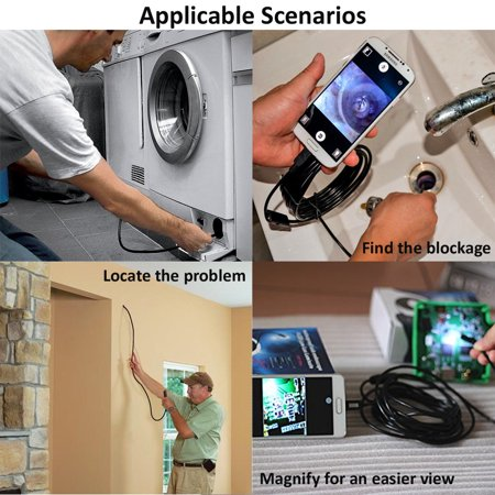 Indigi® 2.0 megapixel Borescope Endoscope Inspection Snake Camera - WiFi + iOS & Android Compatible + 1M length - image 3 de 5