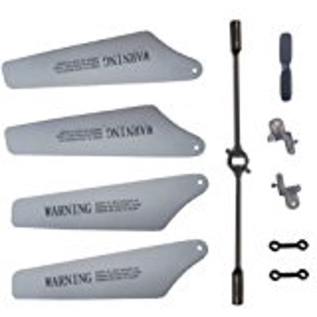 Full Set Replacement Parts for Syma S111g , Main Blades, Tail Blade, Balance Bar, Spare Main Grips, Connect Buckle