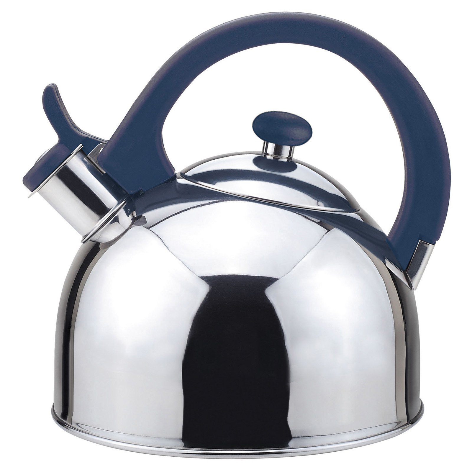 Acacia 2 Qts. Stainless Steel Stovetop Tea Kettle with Whistle in Blue