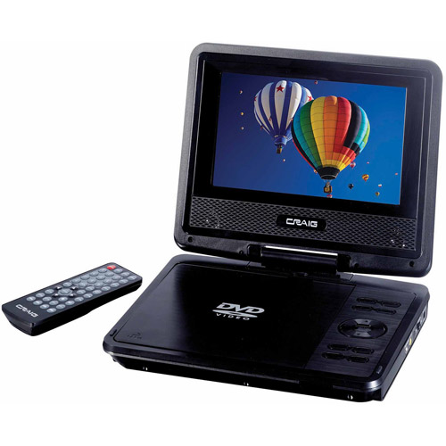 "Craig CTFT716N 7"" TFT Swivel Screen Portable DVD/CD Player with Remote Control"