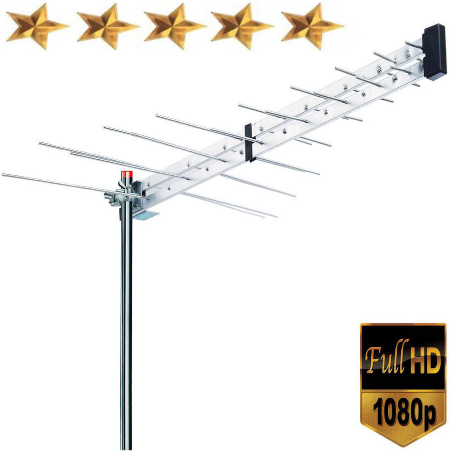 Yagi Roof Top TV Antenna Optimized HDTV Digital Outdoor Directional Aerial VHF UHF FM
