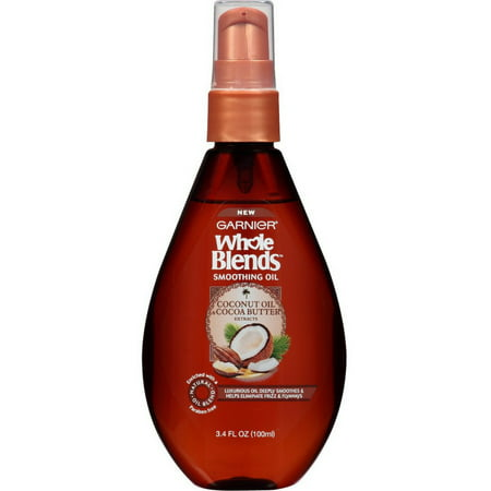 2 Pack - Garnier Whole Blends Smoothing Oil, Coconut Oil & Cocoa Butter Extracts 3.4