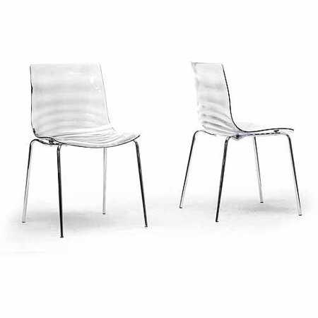Wholesale Interiors Marisse Plastic Modern Dining Chair, Set of 2, -