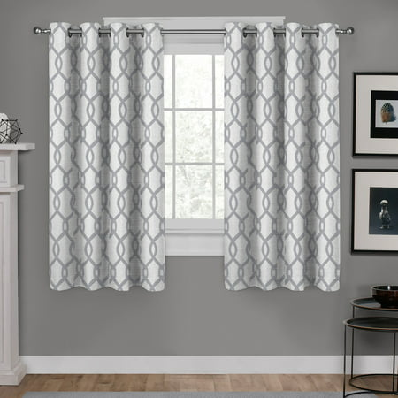 Exclusive Home Curtains 2 Pack Kochi Linen Blend Grommet Top Curtain Panels