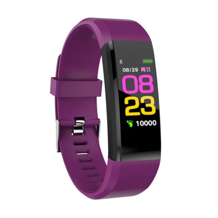 263444fe6 Bluetooth Sport Fitness Smart Watch Wrist Band Bracelet Heart Rate Monitor  Activity Tracker For Android iOS(Purple) - Walmart.com
