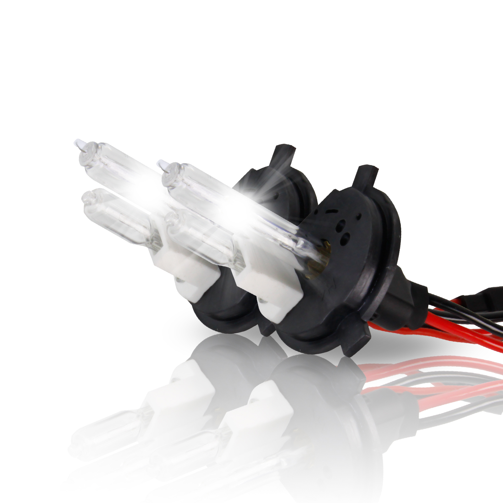 Project RA 35W H4 Purple Xenon HID Headlight Bulbs - 9003 Hi / Low HID Replacement Bulbs - Pair