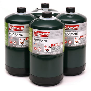 4 Coleman Propane 16 oz. Camping Stove Replacement Fuel