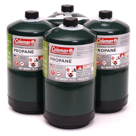 Coleman Propane 16 oz. Camping Stove Replacement Fuel, 4 Pack