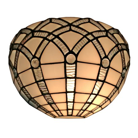 - Amora Lighting AM271WL12 Tiffany Style White Wall Sconce 12 In Wide