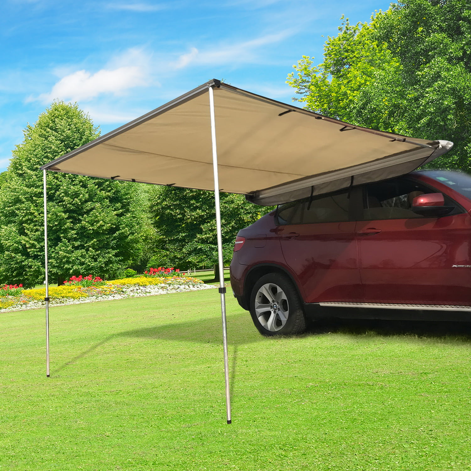 Anself Portable Car Awning Folding Retractable Rooftop Sun ...