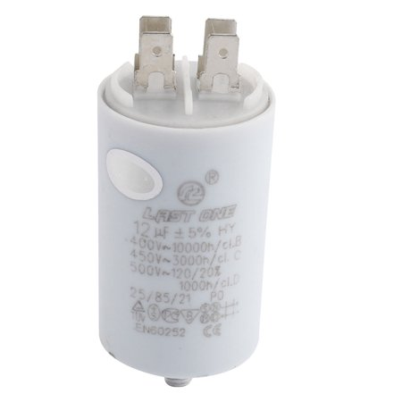 Unique Bargains CBB60 AC 450V 12uFWashing Machine Polypropylene Film Motor  Capacitor