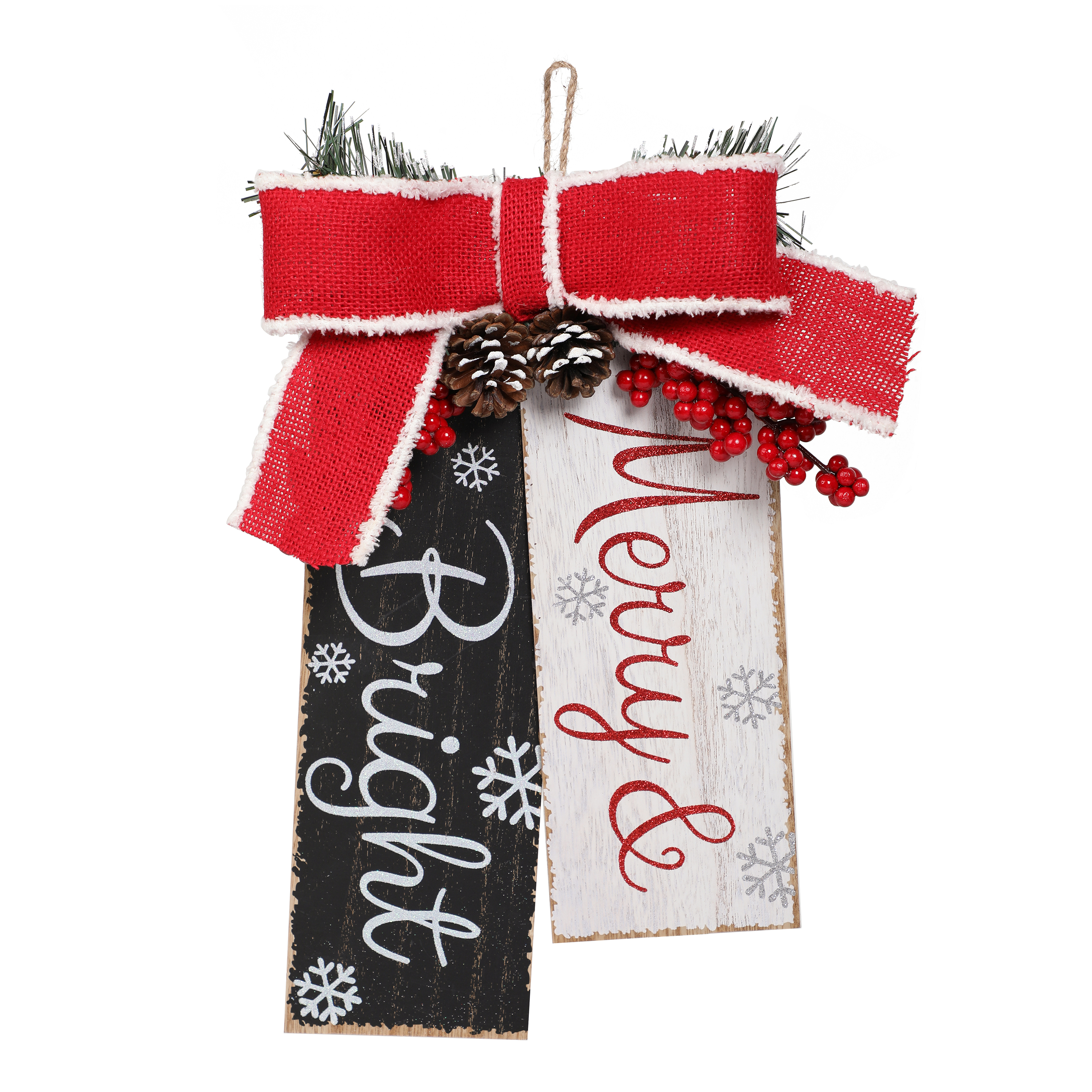 Holiday Time Merry and Bright Wall Tag