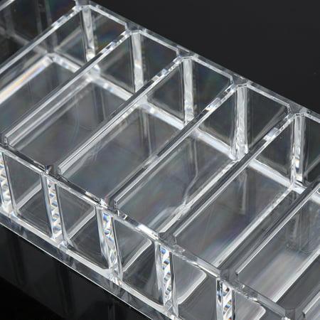 Ejoyous 8 Grid Transparent Acrylic Larger Compact Organizer Power Eyebrow Powder Holder Store Box , Larger Compact Organizer, Powder Holder - image 4 of 6