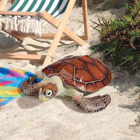 Design Toscano Flat Back Sea Turtle Statue ()