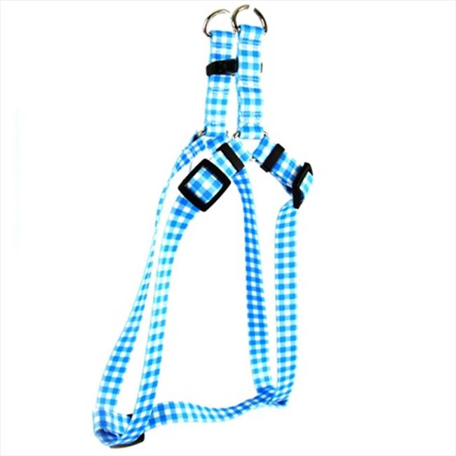 Yellow Dog Design Gingham Step-In Harness - Large