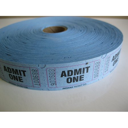 2000 Blue Admit One Single Roll Consecutively Numbered Raffle Tickets, 2000 Blue Admit One Single Roll Raffle Tickets By 50/50 Raffle Tickets Ship from US ()