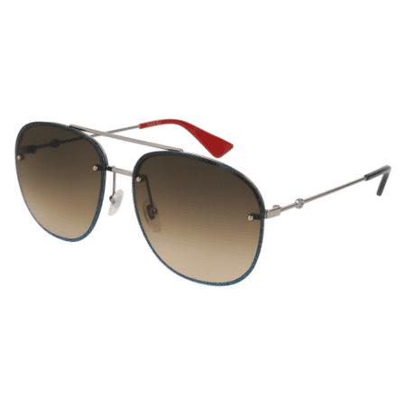 13227e18ba Gucci - Gucci Brown Gradient Aviator Sunglasses GG0227S 002 62 - Walmart.com