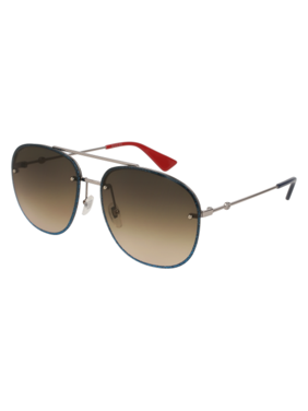 a0dfc88c535 Product Image Gucci Brown Gradient Aviator Sunglasses GG0227S 002 62
