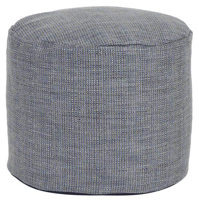 Contemporary Tall Pouf in Blue by Howard Elliott Collection