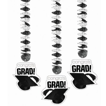 Metallic White (Congrats Grad White Graduation Metallic Dangling)