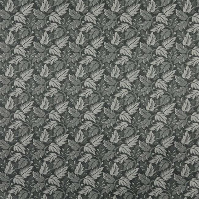 Designer Fabrics F700 54 in. Wide Black, Leaf Floral Heavy Duty Crypton Commercial Grade Upholstery Fabric