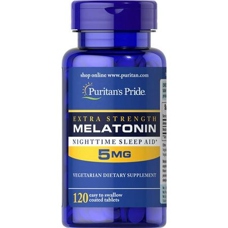 Free 120 Tabs (Puritan's Pride Extra Strength Melatonin 5 mg 120 Tabs FREE SHIPPING )