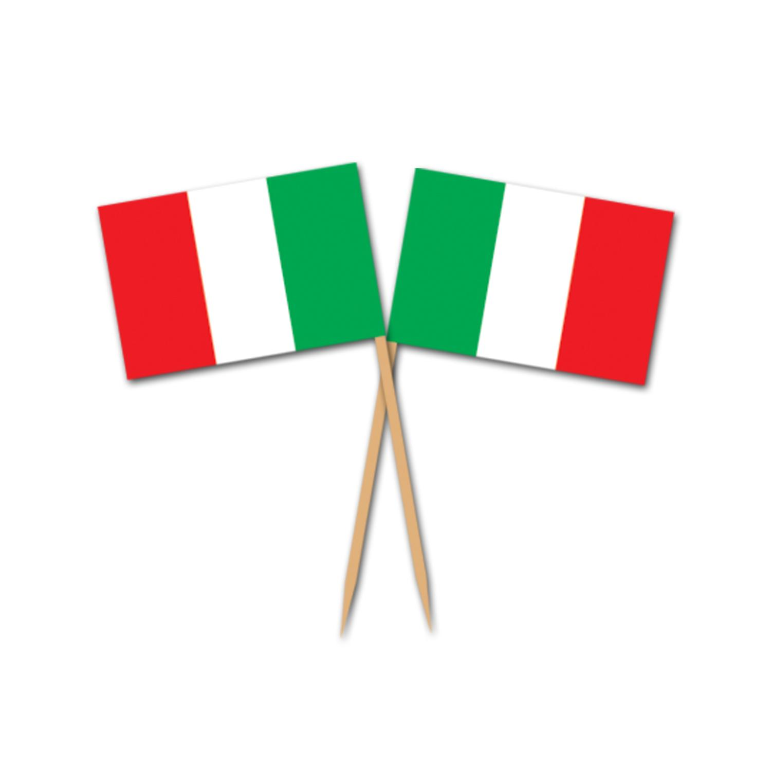 (600ct) Italian Flag Picks by The Beistle Company