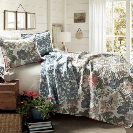 - Alcott Hill Granborough Cotton 3 Piece Reversible Quilt Set
