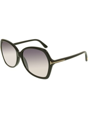 3462880334 Product Image Tom Ford Women s Gradient Carola FT0328-01B-60 Black  Butterfly Sunglasses