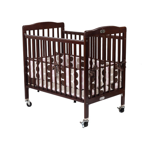 L.A. Baby Pocket Convertible Crib with Mattress, Cherry