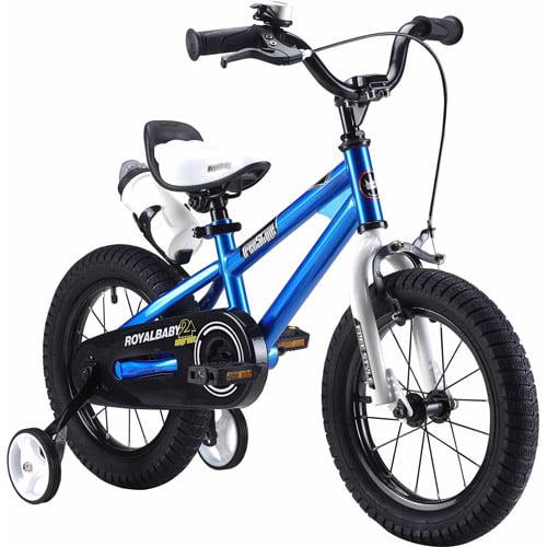 Bicicleta Para Niño(A) RoyalBaby BMX Freestyle bici de los cabritos, muchacho39; s bicicletas y chica39; s bicicletas con llantitas, regalos para niños, ruedas de 14 pulgadas, azul + Royalbaby en Veo y Compro