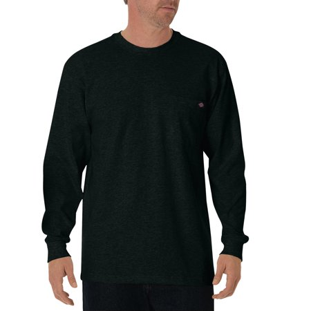 - Big and Tall Men's Long Sleeve Heavyweight Crew Neck Tee