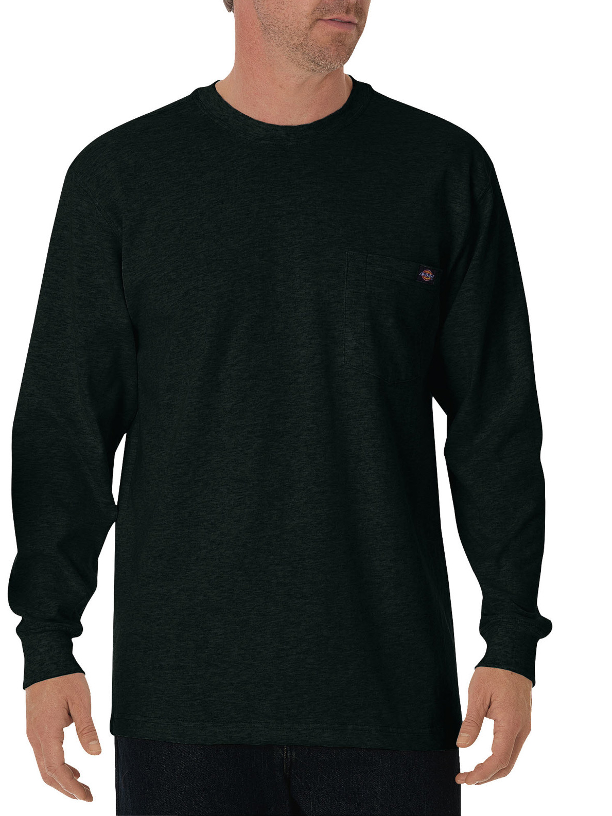 Big and Tall Men's Long Sleeve Heavyweight Crew Neck Tee