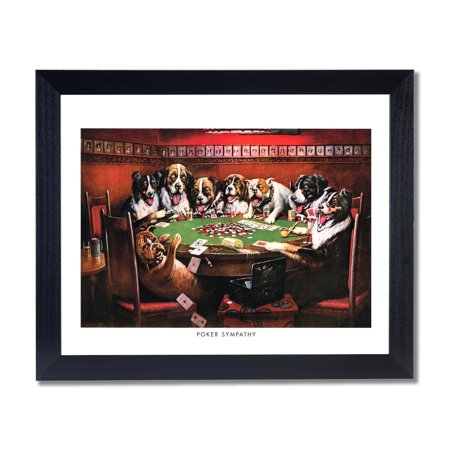 (Dogs Playing Poker At Table #3 Poker Sympathy Coolidge Picture)